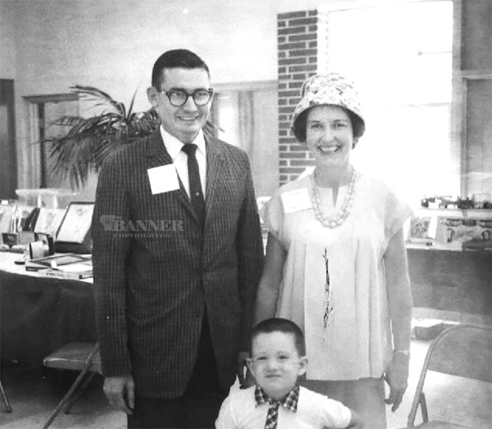 JT and Robye Lindsey with their oldest son, Keith, in 1961. Robye was pregnant at the time with the youngest son, Tim