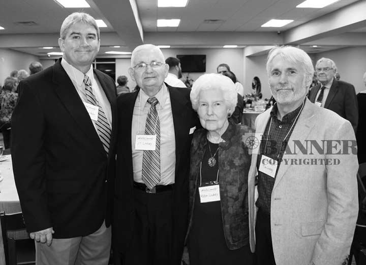 JT and Robye Linsdey were inducted into the Bethel University Hall-of-Fame in 2014. Joining the Linsdey were sons Keith (left) and Tim (right).