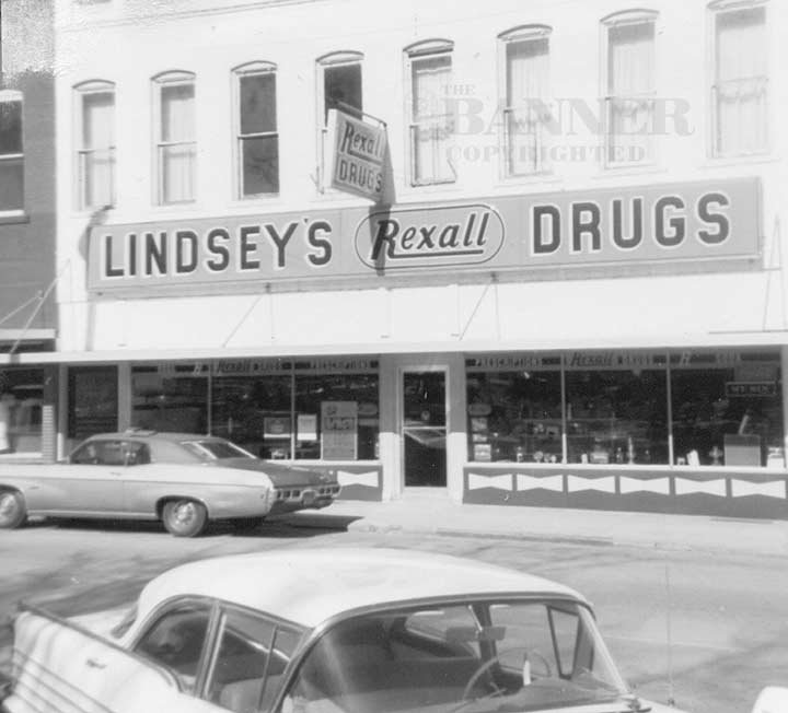 In 1965 the business moved to Cedar St. At that time the name was changed to Lindsey's Rexall Drugs and the Lindseys remained there until 1979.