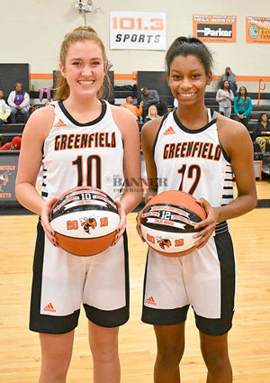 Class A Miss Basketball finalists Tess Darby (left) and Chloe Moore-McNeil