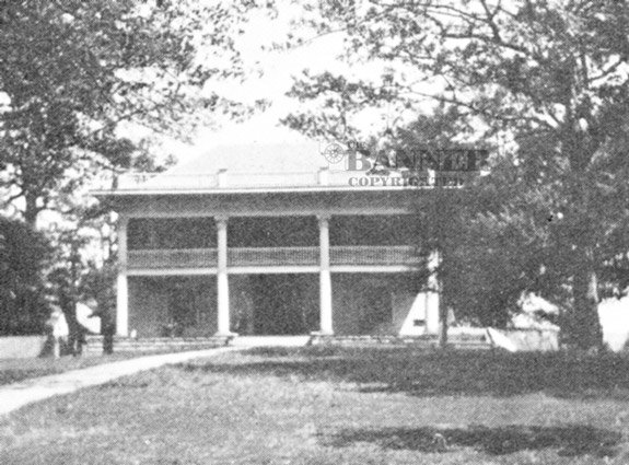 The Ben Moore home before its destruction by fire.