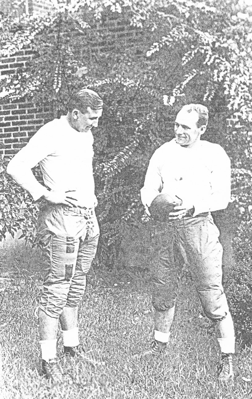 "H.B. ""Swat"" Scarbrough with Bethel College football coach Leo Davis, 1933."