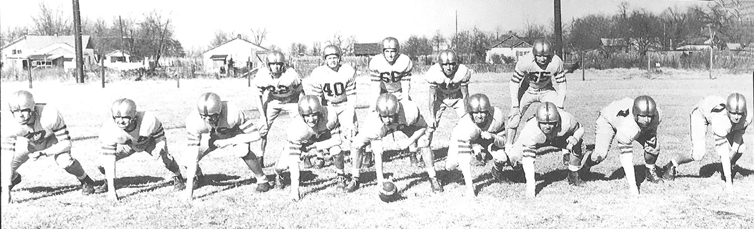 In his senior year of high school, Ray Morris (#40) was the starting fullback at McKenzie High School.