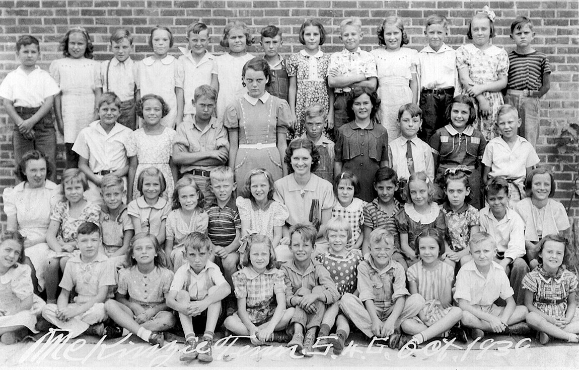 Lanier Mabry's Fifth Grade Class in 1939. Former McKenzie Banner Publisher James L. Washburn was a member of the class.