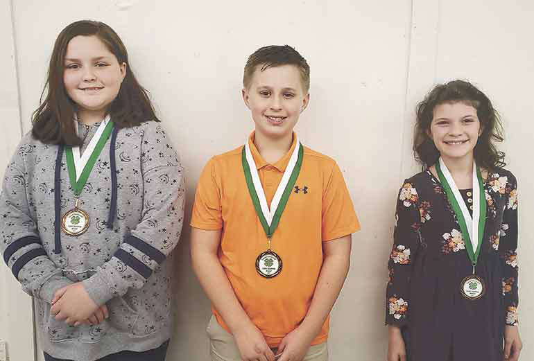 Fifth grade (from left): 1st Place - Haven Dillahunty (Huntingdon), 2nd Place - Autumn Haywood (McKenzie) and 3rd Place - Adelyn Lay (Huntingdon).