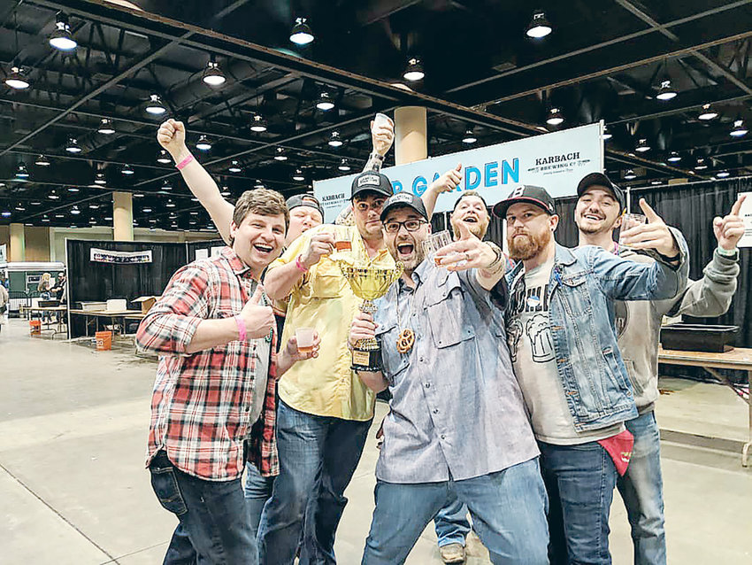 Tallulah Brewing Company celebrates being named Fan Favorite Brewery at the recent Birmingham Winter Beer Fest at the BJCC.
