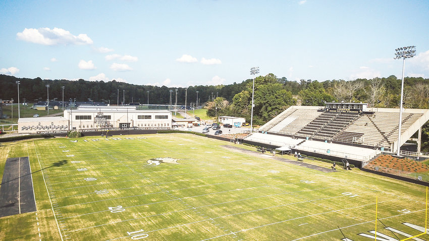 Kiro-Gambrell Field, shown in a aerial photo from late last year, will soon have a new turf field after members of the Jasper City Board pf Education approved a bid to have the surface of the field replaced. The low bid for the project came in at $922,777.