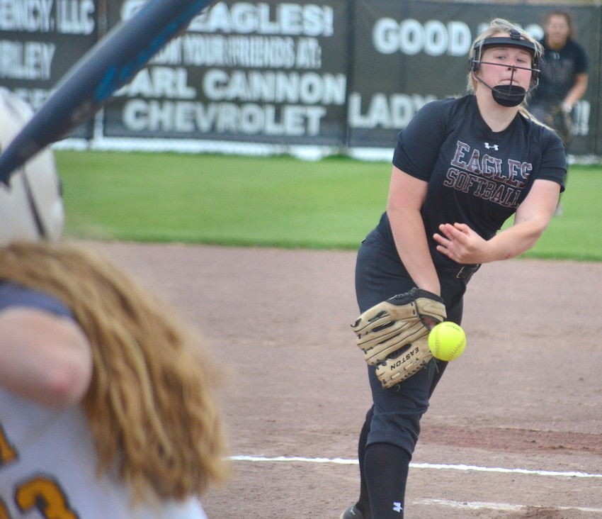 Sumiton Christian pitcher Anna Calloway is the Daily Mountain Eagle Elite Softball Player of the Year. She was 20-10 in the circle and hit .426 for the Eagles.