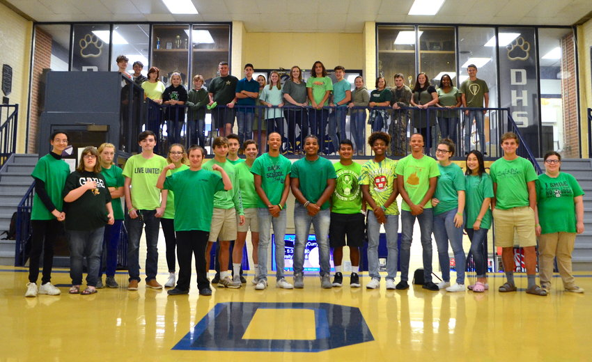 Dora High School students wore green as part of their participation in Start With Hello Week.