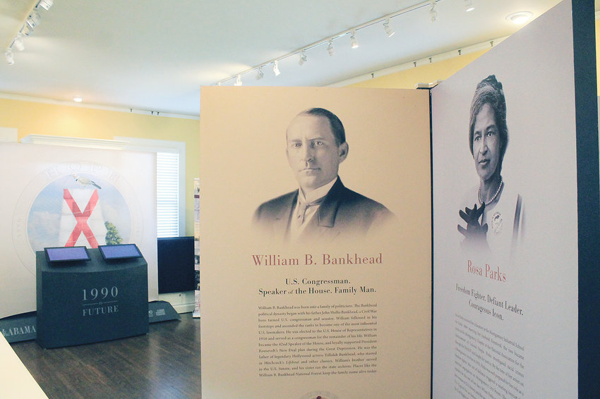 """""""Making Alabama: A Bicentennial Traveling Exhibit"""" will open at the Bankhead House and Heritage Center on Tuesday. The exhibit has been traveling the state since March 2018"""