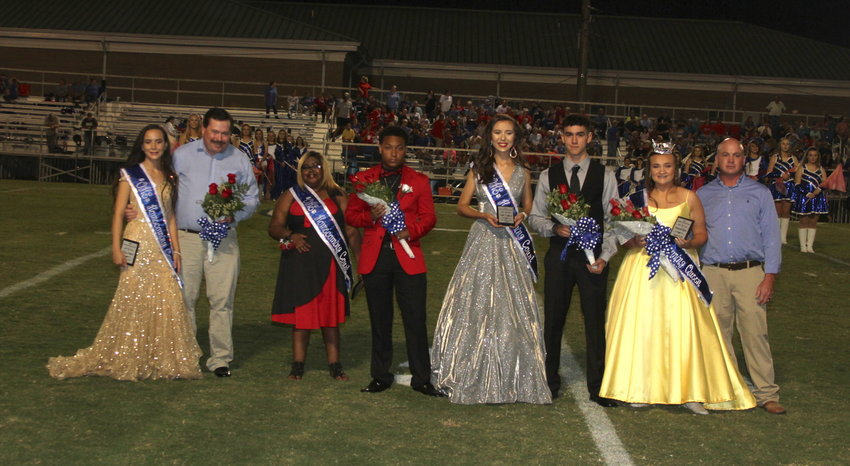 Pictured is the 2019 homecoming court for Oakman High School. From left to right, 3rd alternate Kelsey Ferkich escorted by Robert Ferkich, 2nd alternate Aamiya Irby escorted by Jawalice Clark, 1st Alternate Kallie Capkovic escorted by Christion Sanders, and 2019 Homecoming Queen Savannah Kilgore escorted by Joseph Kilgore.