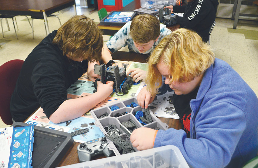 Students complete a robotics project as part of the Walker County Center of Technology's STEM Academy.