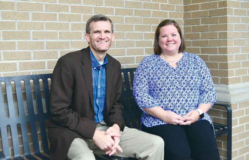 Oakman High School Principal Leathan Waid and assistant principal Natalie Carson are working on some new ideas to strengthen the school's culture.