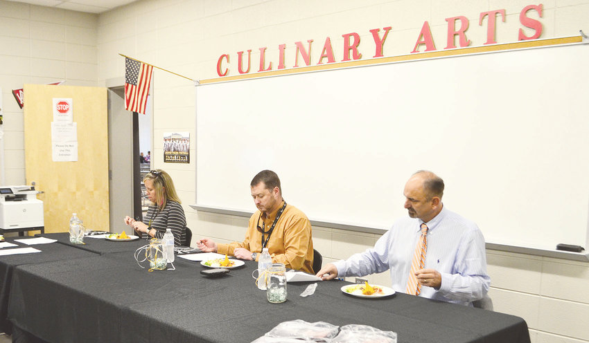 From left to right, Jasper City Schools bookkeeper Lindsey Moore, Walker County Center of Technology Director Chris McCullar, and Walker County Schools Assistant Superintendent Dr. Dennis Willingham served as judges in this year's beef cook-off.