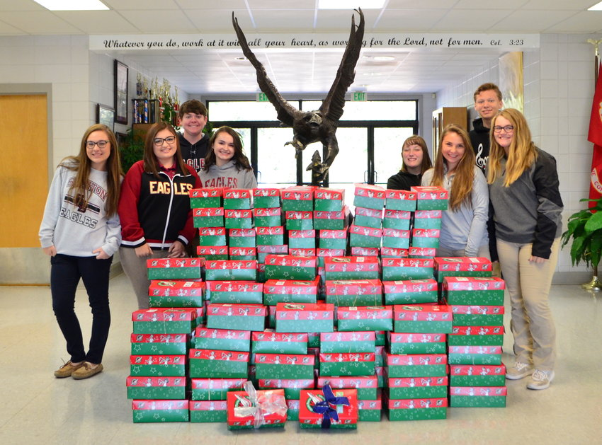 Junior high and high school students at Sumiton Christian School have packed over 150 shoeboxes that will be donated to Operation Christmas Child during this week's National Collection Week. The school's SGA sponsors the annual project to collect shoeboxes filled with a number of items that will be sent to children in need around the world.