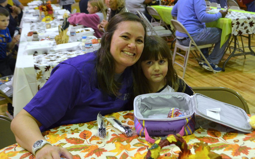 Parrish Elementary School hosted a Thanksgiving luncheon on Thursday.  Many students were joined by their parents, grandparents or other family members to enjoy a traditional Thanksgiving meal. The school's gymnasium was transformed into a dining room by lunchroom staff and custodians who worked hard to decorate tables with festive tablecloths and decor.  Officials with the Walker County Board of Education and members of the Parrish Town Council were also invited to the special occasion.