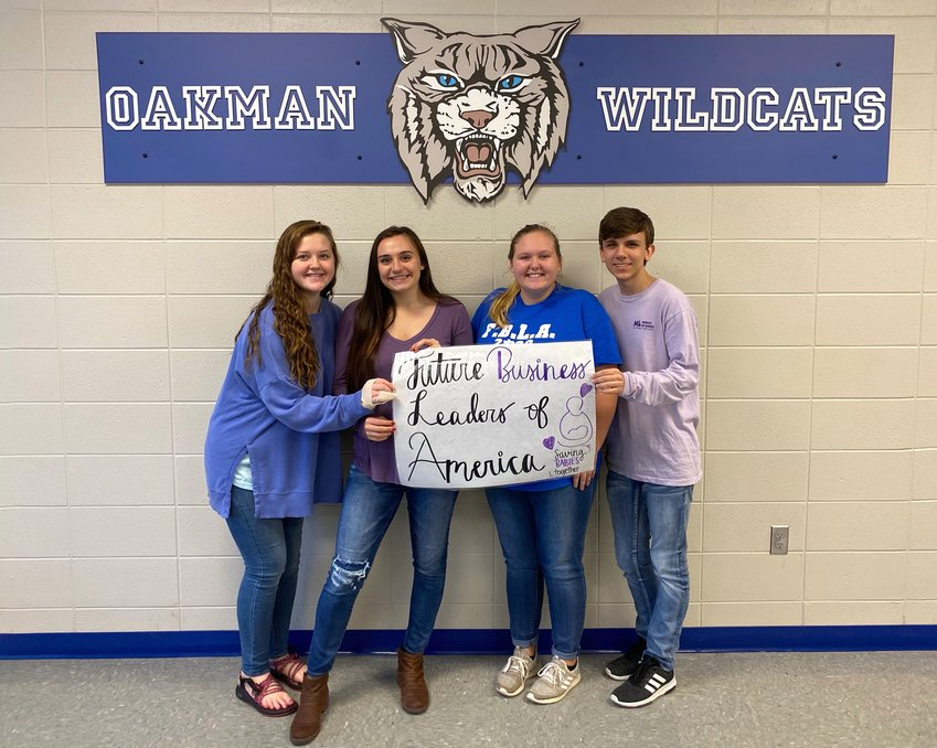 Oakman High School's FBLA raised money and awareness about March of Dimes last week.