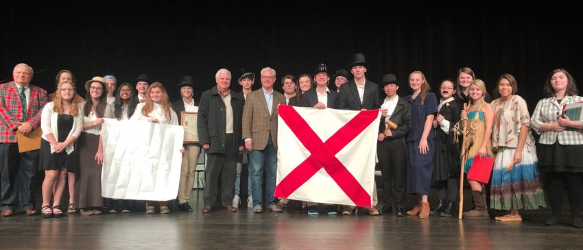 Jasper High School teacher Mike Cordle's AP U.S. History class performed a play on Wednesday to commemorate Alabama's bicentennial. Sen. Greg Reed, R-Jasper, and Jasper Mayor David O'Mary attended the performance.