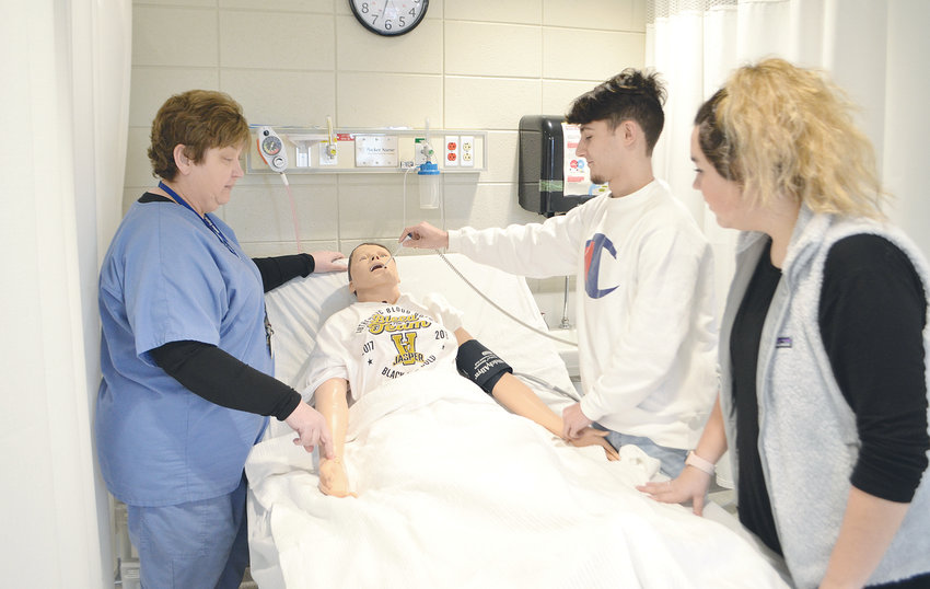 Many career technical education programs are offered at Jasper High School, including a health sciences program, pictured.
