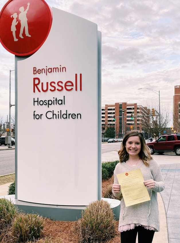 BSCC student Kaiden Kennedy recently made a donation of art supplies to Children's of Alabama.