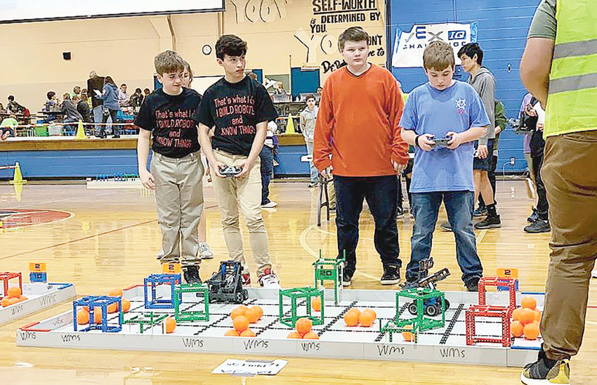 A robotics competition at Bankhead Middle School brought over 100 students to the school to showcase their STEM skills.
