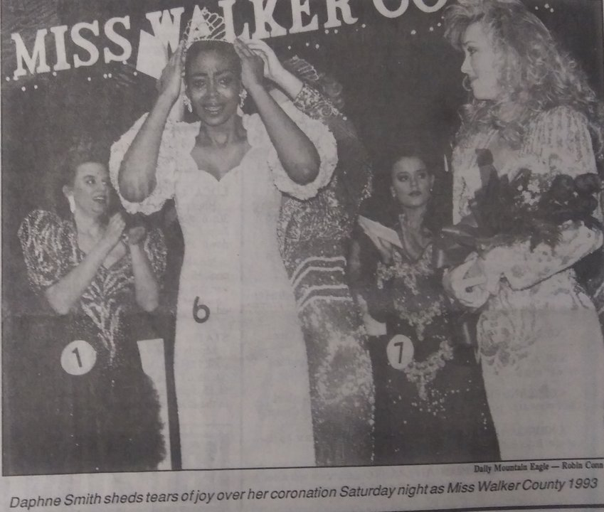Daphne Smith, a 1992 graduate of Dora High School, made local history in February 1993 when she became the first black Miss Walker County.