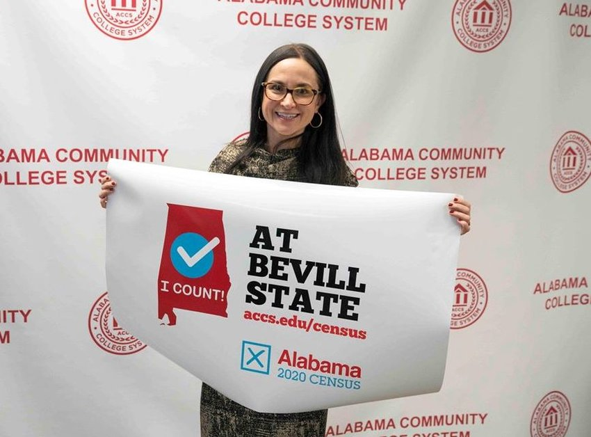 Bevill State Community College Director of Public Relations Tana Collins-Allred recently attended a meeting at the Alabama Community College System's offices to encourage census completion. Community colleges around the state will be helping people through the census application process.