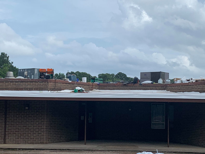 A new roof is being installed at Parrish Elementary School.