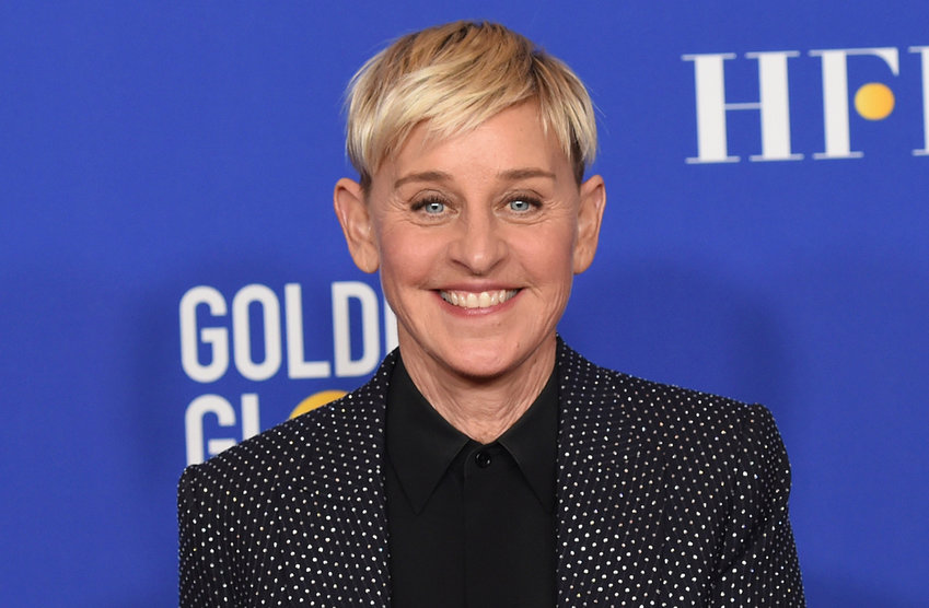 FILE - Ellen DeGeneres poses in the press room at the 77th annual Golden Globe Awards on Jan. 5, 2020, in Beverly Hills, Calif. (AP Photo/Chris Pizzello, File)