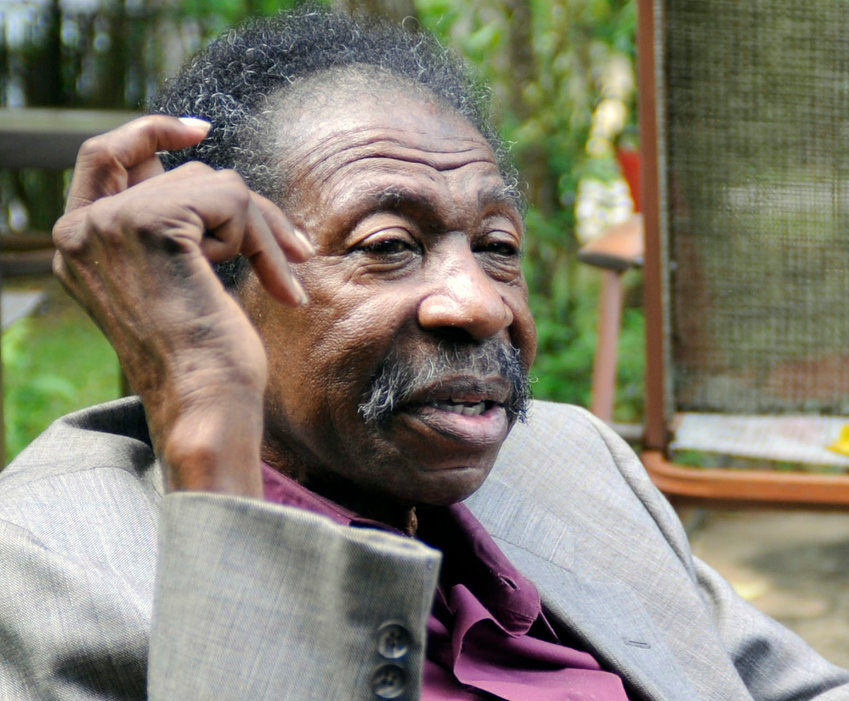 Bruce Carver Boynton, whose arrest for sitting in the white section of a segregated bus station restaurant in 1958 led to a Supreme Court decision and inspired the Freedom Rides movement, speaks at his home in Selma, Ala., on Thursday, May 3, 2018. An event is being planned in Montgomery, Ala., on May 18 to recognize Boynton, a largely unknown pioneer of the civil rights movement. (AP Photo/Jay Reeves)