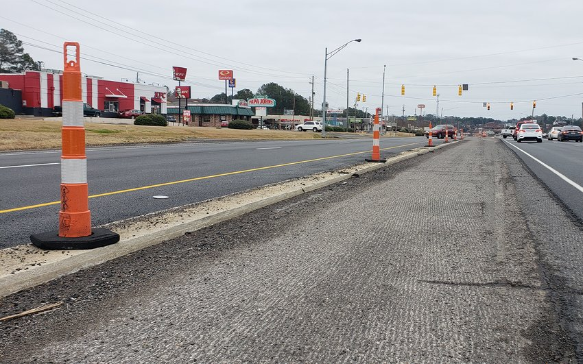 This January 9, 2021 photo shows a section of Alabama Highway 118 that had yet to be paved.