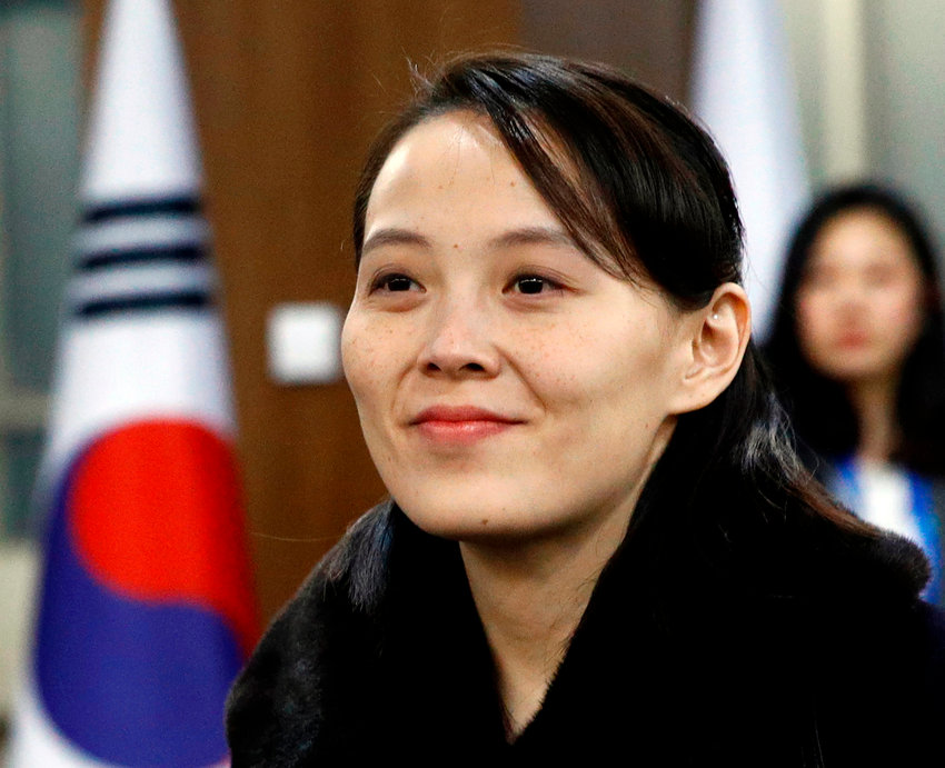 In this Feb. 9, 2018, file photo, Kim Yo Jong, sister of North Korean leader Kim Jong Un, arrives for the opening ceremony of the 2018 Winter Olympics in Pyeongchang, South Korea. (AP Photo/Patrick Semansky, Pool, File)