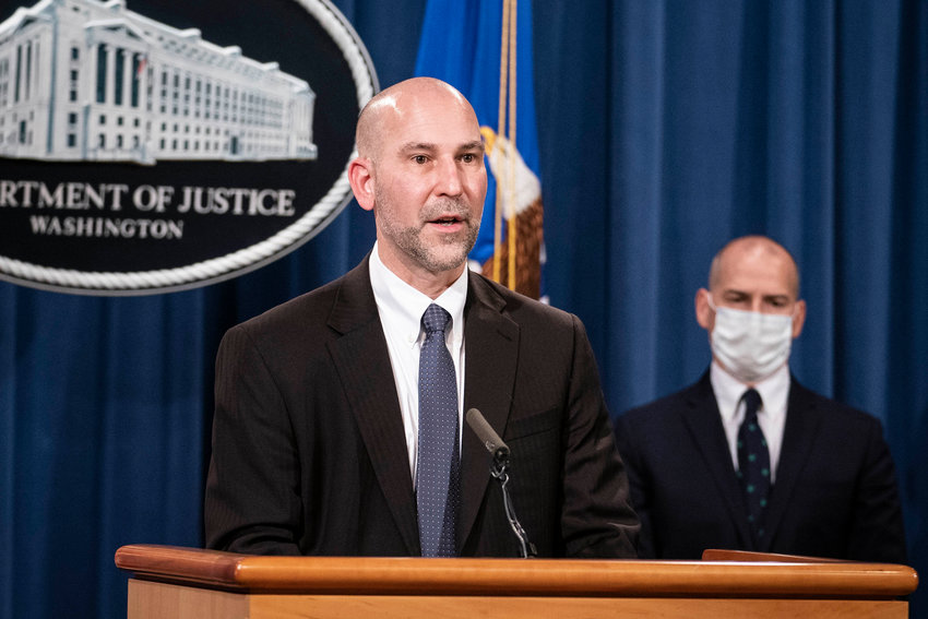 Steven D'Antuono, head of the Federal Bureau of Investigation (FBI) Washington field office, speaks during a news conference at the U.S. Department of Justice in Washington, D.C., U.S., on Tuesday, Jan. 12, 2021. The acting attorney for Washington and FBI provided an update on criminal charges related to the Jan. 6 siege at the U.S. Capitol. Photographer: Sarah Silbiger/Bloomberg/Pool
