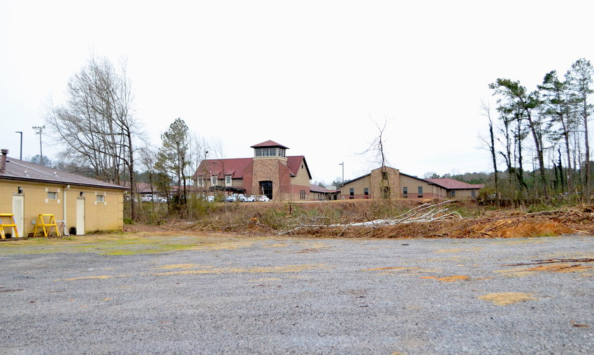 Land has been cleared at Oakman High School to make way for a larger parking lot and an access road to connect Oakman High and Oakman Middle schools.
