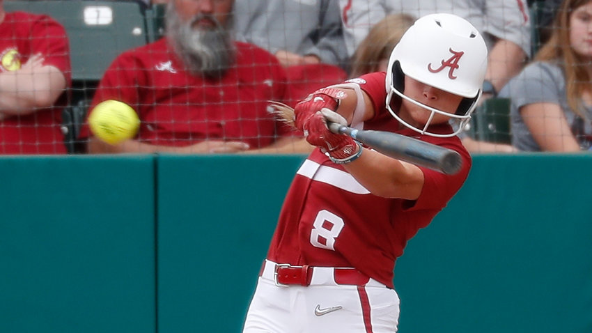 Alabama's Kendall Beth Sides had two hits and scored three runs in the Tide's three wins over the weekend.