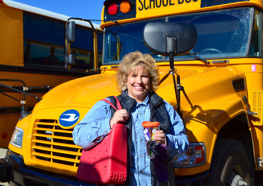 Cathy East works as a bus driver and kindergarten educator for Walker County Schools.