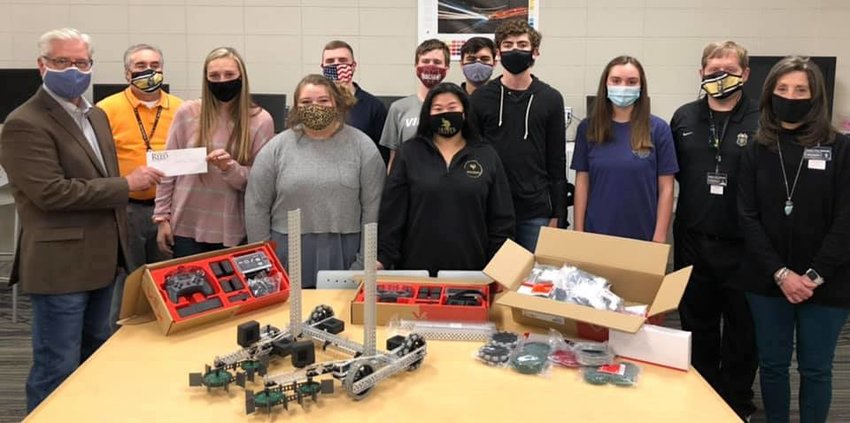 Pictured is Sen. Greg Reed in November providing discretionary funds to advance STEM pathways at Jasper High School as part of the school system's career tech opportunities.