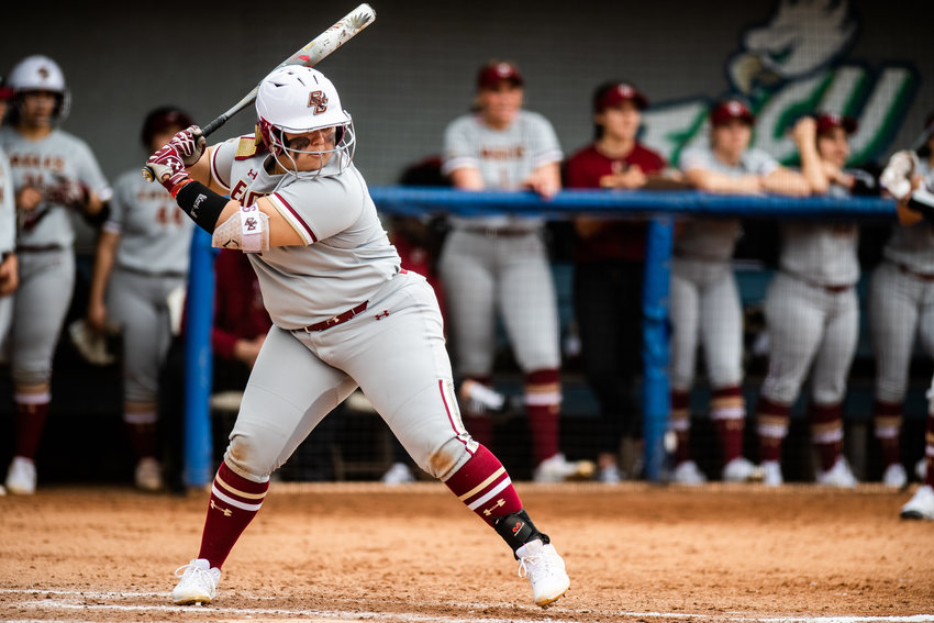 Boston College's Jenna Ergle hit her first home run of the seaosn on Saturday.