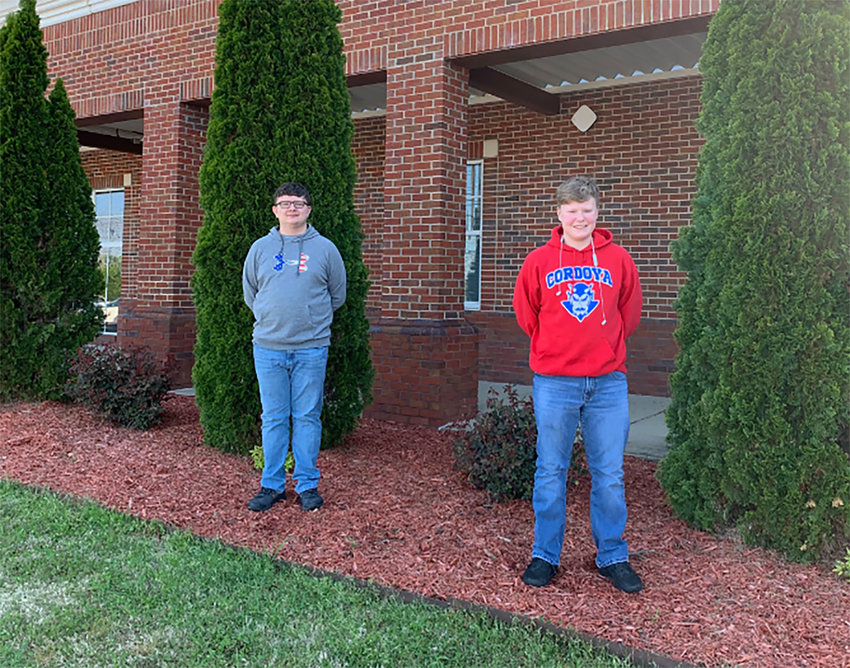 AJ Freeman and Kaleb Howell of Cordova will be attending Space Academy for Leading Students in Alabama (SALSA) May 23-28.