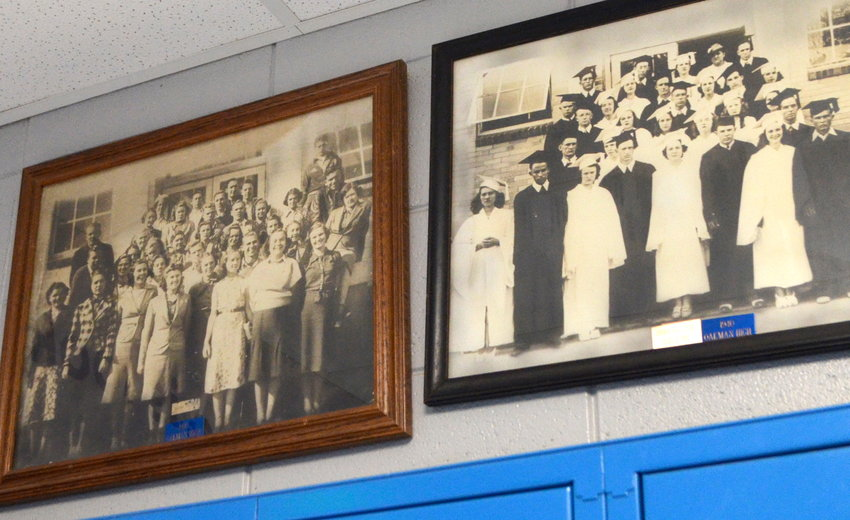 Oakman High School is working to get photographs of all senior classes through the years to display at the school. The senior classes of 1939 and 1940 are pictured.