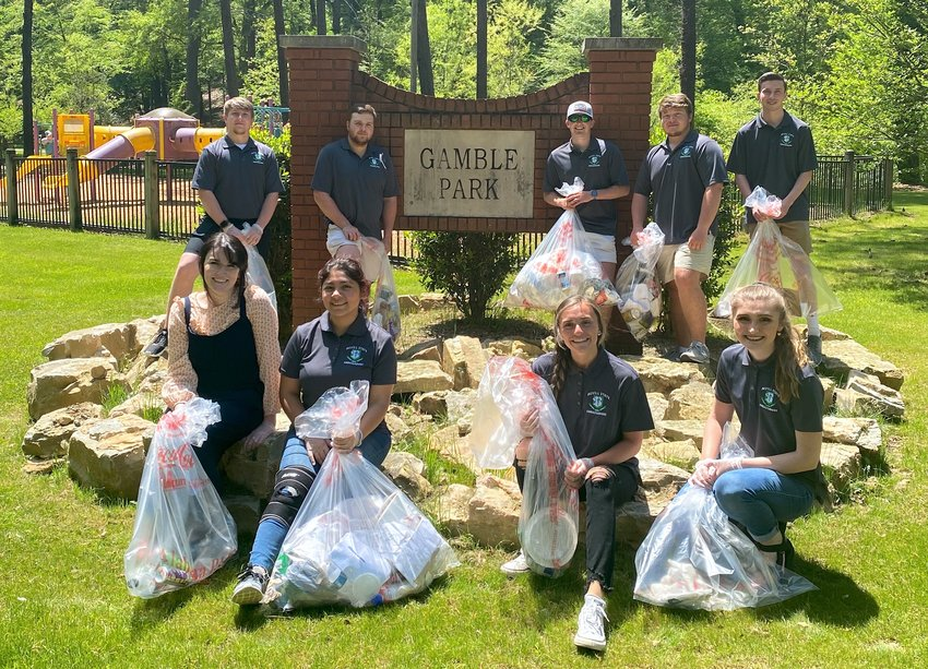 """Bevill State Community College ambassadors partnered with the City of Jasper on April 20 to pick up trash on the college's Jasper campus and nearby Gamble Park. The clean up was completed as part of the ALPALS (Alabama People Against A Littered State ) """"Don't Drop It On Alabama"""" campaign that is being carried out to clean up communities across Alabama."""