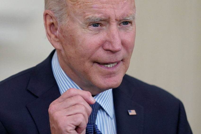 President Joe Biden speaks about the COVID-19 vaccination program, in the State Dining Room of the White House, Tuesday, May 4, 2021, in Washington. (AP Photo/Evan Vucci)