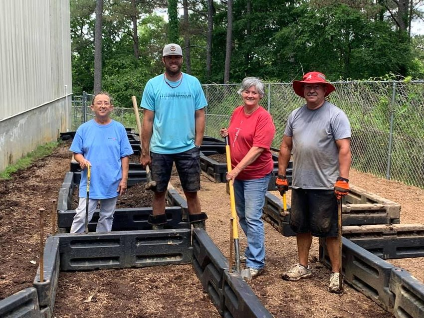 People have been busy preparing for a garden at Cordova Elementary School, made possible through grant funding.