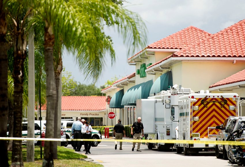 Three people including a child are dead after a shooting at Publix plaza in Royal Palm Beach Thursday June 10, 2021. MEGHAN McCARTHY/The Palm Beach Post