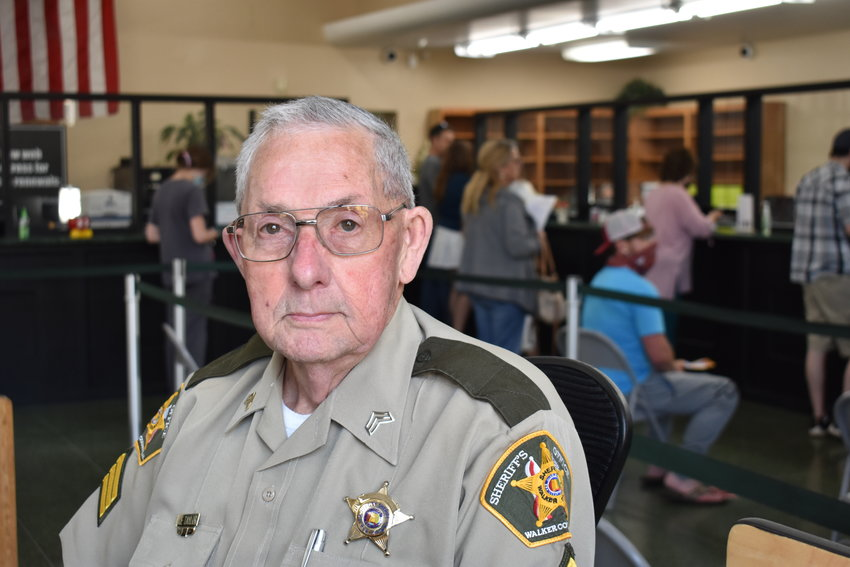 Sgt. Joe Taylor, who came back from retirement to serve part-time with the Waker County Sheriff's Office, is now known for not just security at the Probate Judge's Office but also helping navigate the public with COVID-19 protocol and directions in the office.