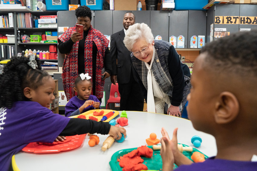 Gov. Kay Ivey is pictured inside a First Class Pre-K classroom. The Walker County Board of Education is looking to fill open slots in First Class Pre-K classrooms for the 2021-22 school year.