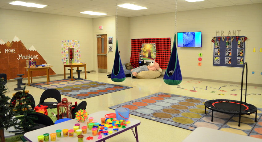 Calming spaces, like the one pictured at Sumiton Elementary, will be utilized when newly-hired therapists begin serving children in Walker County schools.