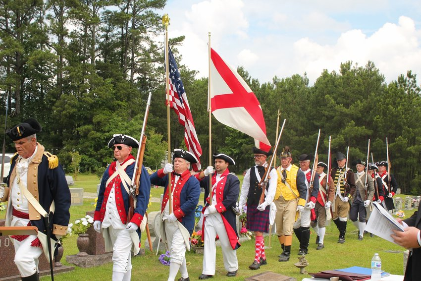 A presentation of colors was conducted by the SAR State Color Guard at a commemorative grave marking for the late Carl Black of Jasper on June 5.