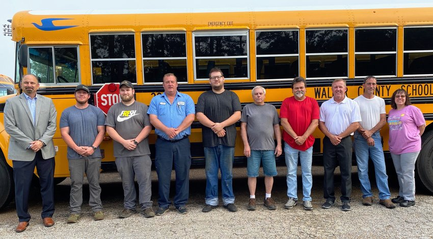 The Walker County Board of Education thanked school bus mechanics for their hard work in helping the transportation department pass an annual inspection.