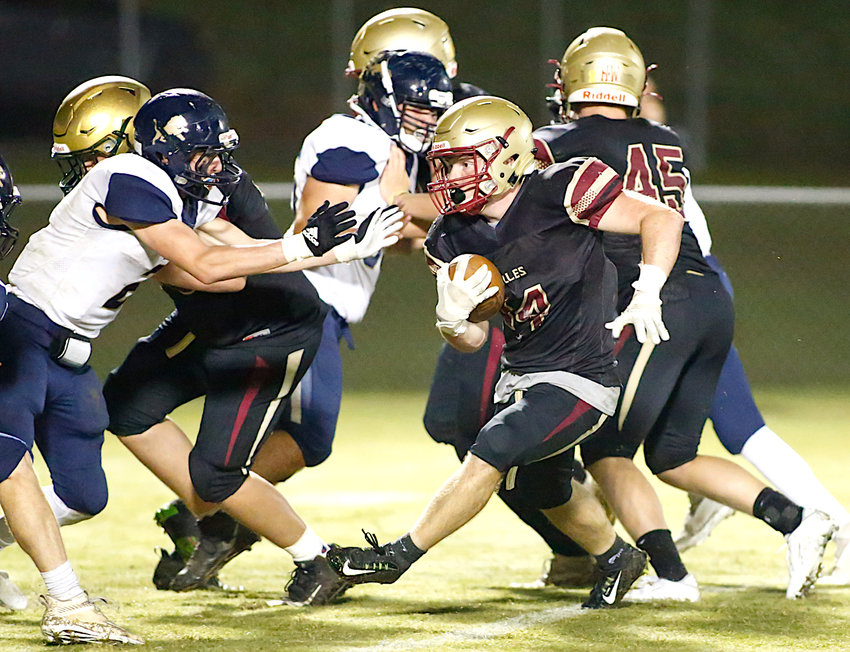 Sumiton Christian's Jack Gable makes a cut against Brindlee Mountain during their game Friday night.